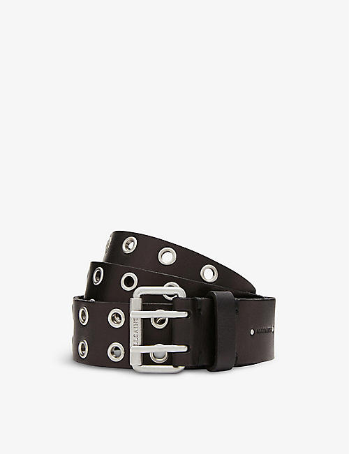 ALLSAINTS: Iryna eyelet leather belt