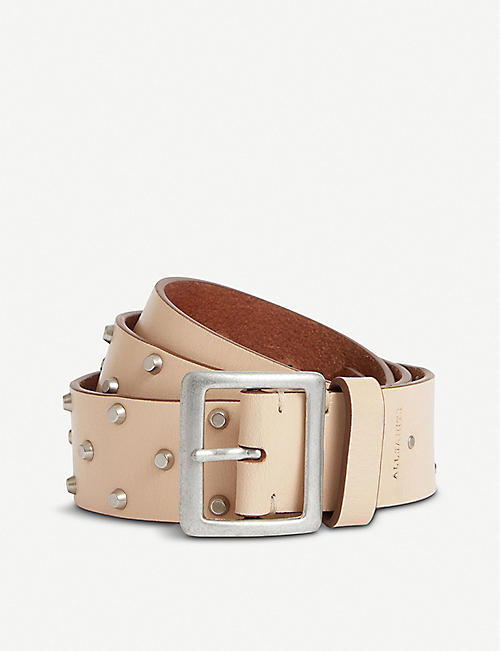 ALLSAINTS Carine studded leather belt