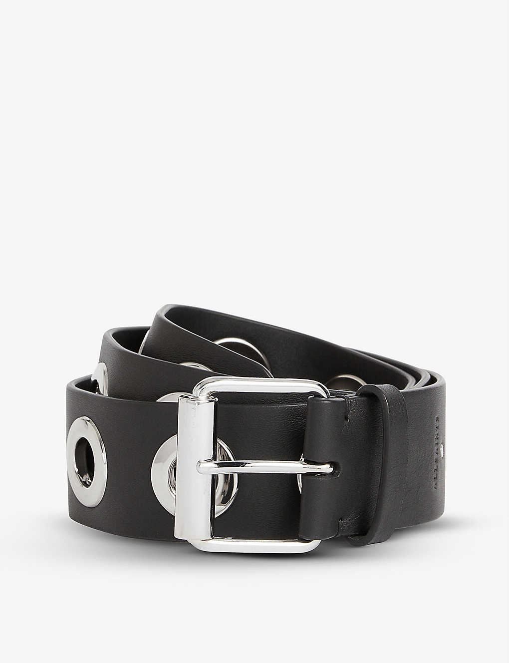 ALLSAINTS: Dani eyelet-embellished leather belt