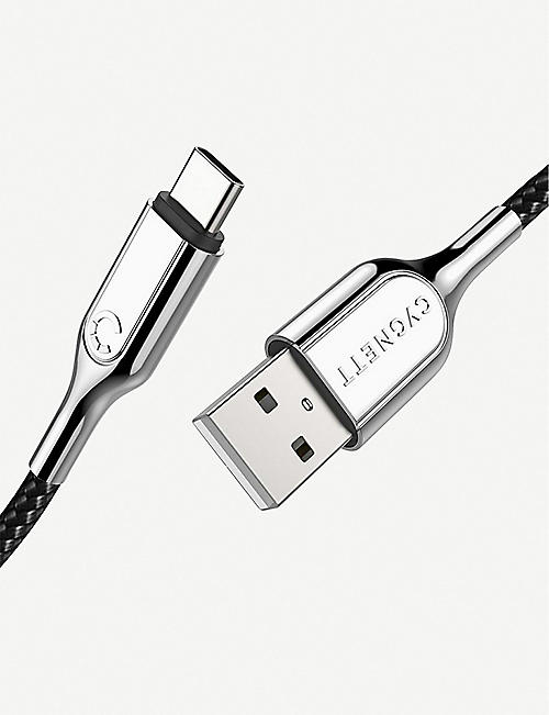 CYGNETT USB-C to USB-A 10cm Braided Cable