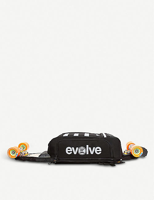 EVOLVE SKATEBOARDS Logo print multi-storage backpack