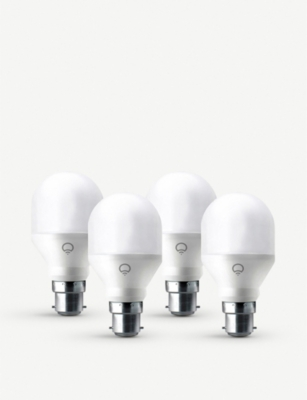 LIFX Mini colour white smart LED B22 set of 4 bulbs