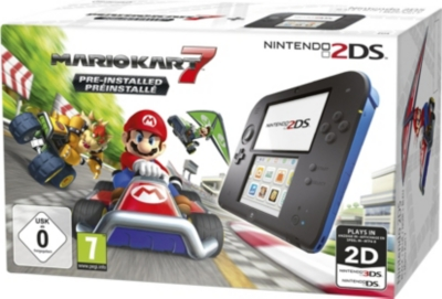 NINTENDO 2DS and mario kart 7 console