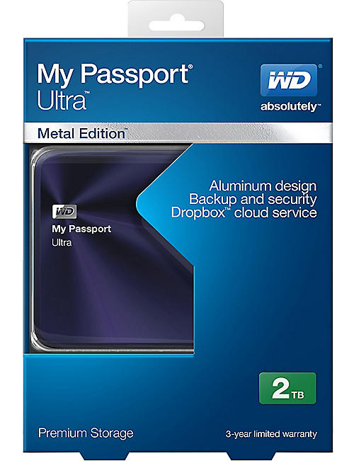 GF FERRE My passport ultra 2TB hard drive metal edition