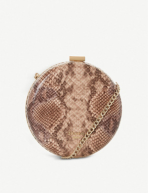 DUNE Beautey round snakeprint clutch