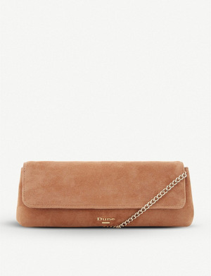 DUNE Belong suede clutch