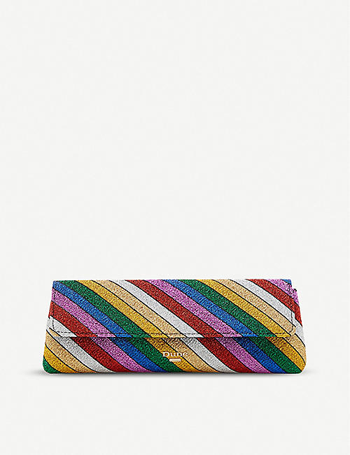 DUNE Rainbow striped clutch