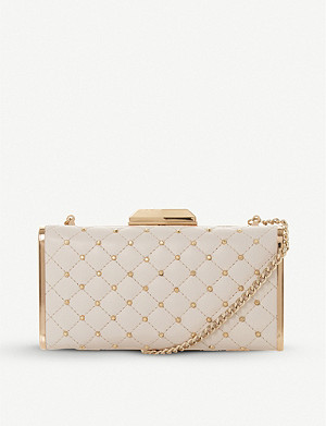 DUNE Bsaavy embellished leather clutch bag