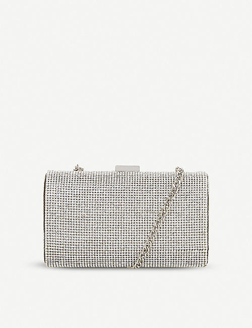 DUNE: Bryannie crystal-embellished clutch