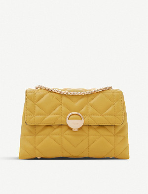 DUNE Ellenour quilted faux-leather shoulder bag