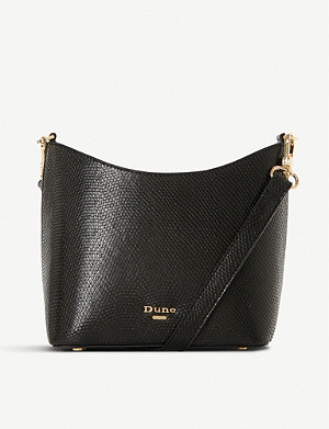 DUNE Elottie cross body faux-leather bucket bag