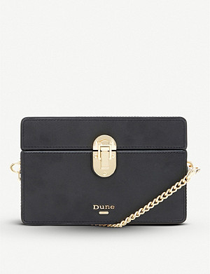 DUNE Eminnie faux-leather box cross-body bag