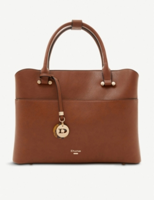 DUNE Daring faux-leather shopper bag