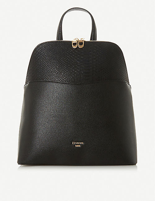 DUNE Dovalle faux-leather backpack