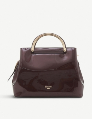 DUNE Daandelion faux-leather varnished tote