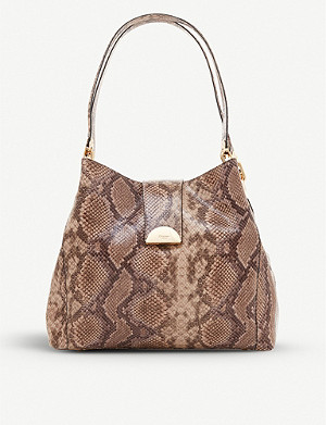 DUNE Demii snakeprint faux-leather shoudler bag
