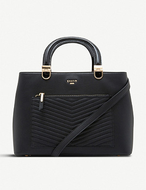 DUNE Dannyy faux-leather quilted tote bag