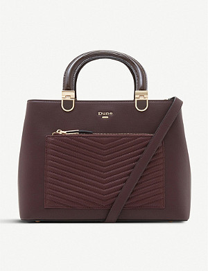 DUNE Dannyy quilted faux-leather tote bag