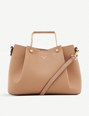 DUNE Darlow slouchy faux-leather tote