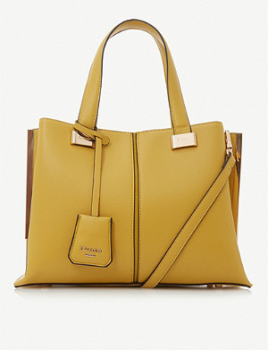 DUNE Dinidavard boxy faux-leather tote bag