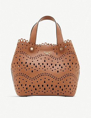DUNE Daser faux-leather tote bag