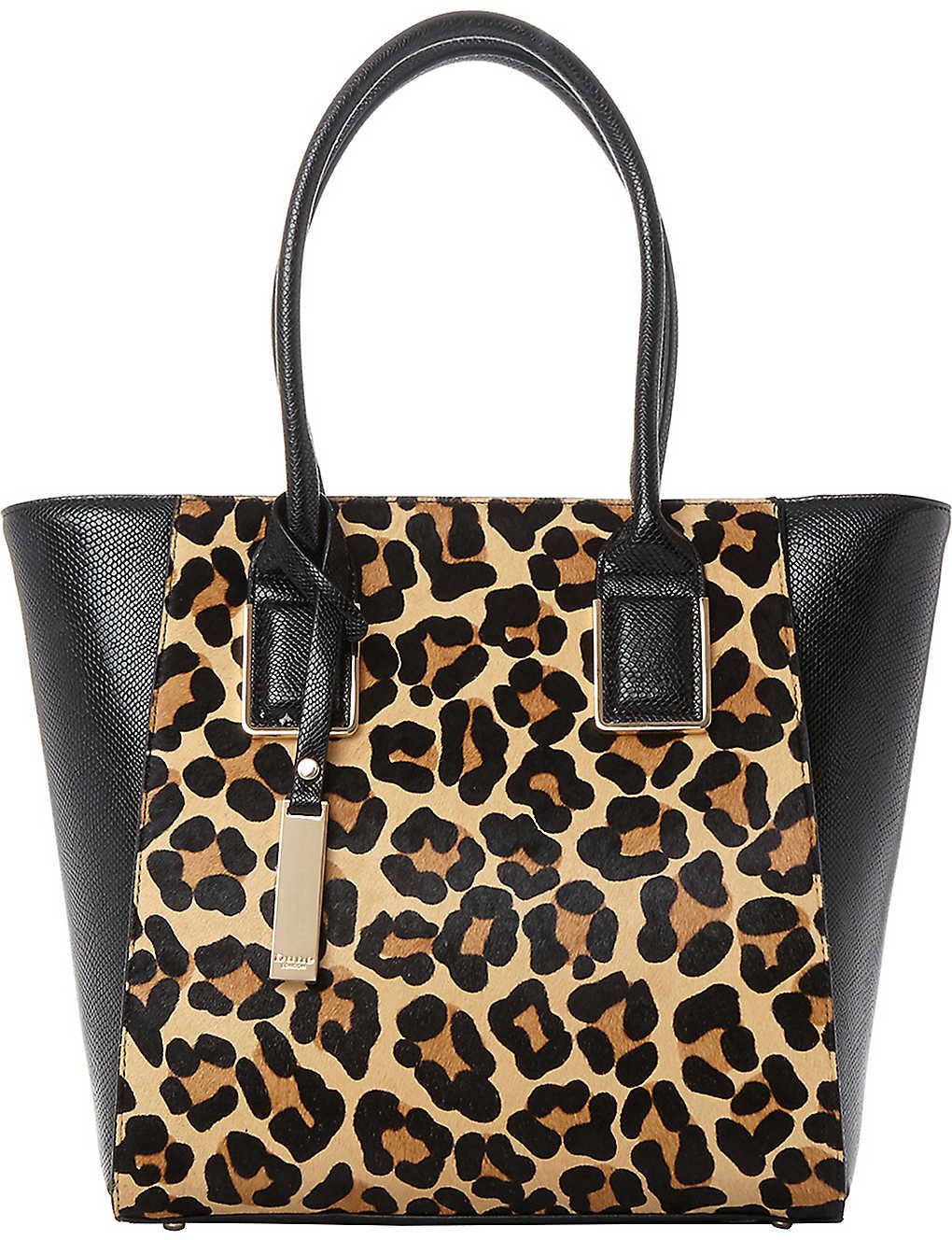 ccd71dda11bc DUNE - Leopard-print shopper bag | Selfridges.com