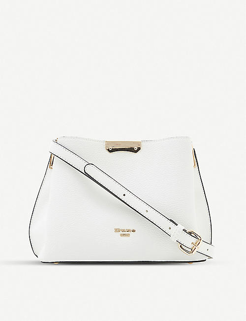 DUNE Dinidarrow small faux leather cross-body bag