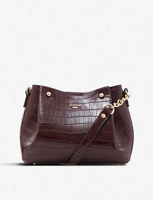 DUNE Dillies reptile-effect faux-leather bucket bag
