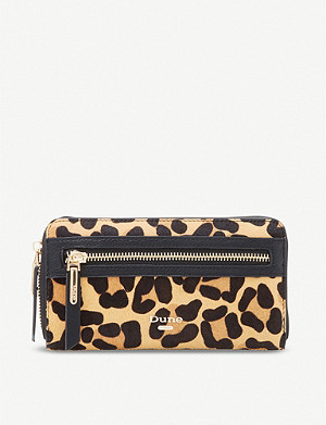 DUNE Kelle leopard-print faux-leather purse