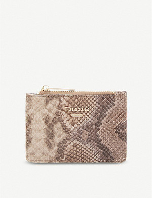 DUNE Kaarah snake-embossed coin purse
