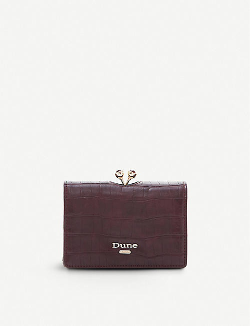 DUNE Kinikarousel mini frame faux-leather purse