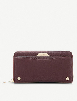 DUNE Kartie faux-leather purse with removable cardholder