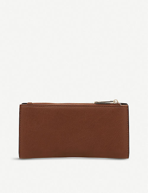 DUNE Kanty slim faux-leather purse