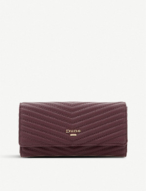 DUNE Karo quilted faux-leather clutch
