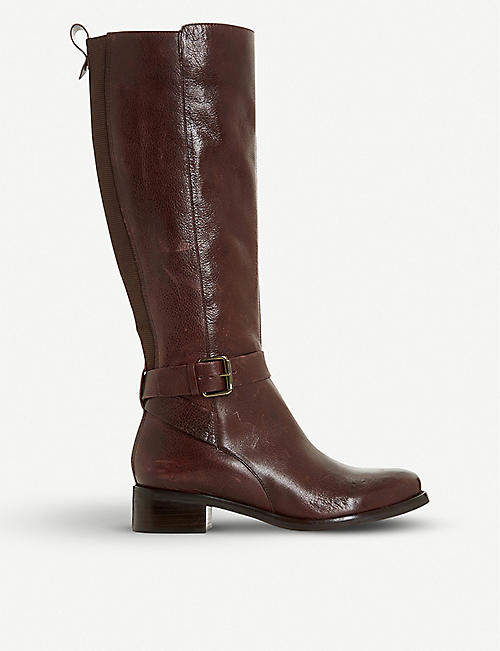 BERTIE: Taykonie knee-high leather boots