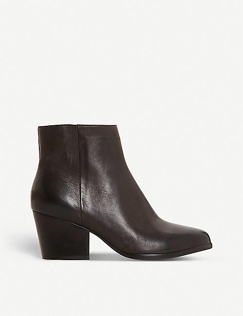 BERTIE Poket textured leather ankle boots
