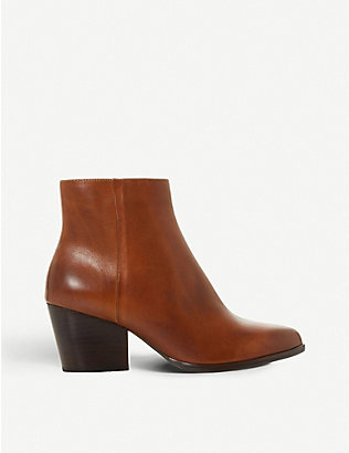 BERTIE: Poket textured leather ankle boots