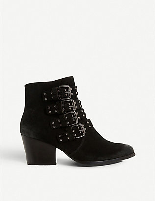 BERTIE: Paramont buckle-embellished leather boots