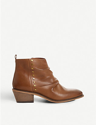 BERTIE: Praydon stud-embellished leather boots