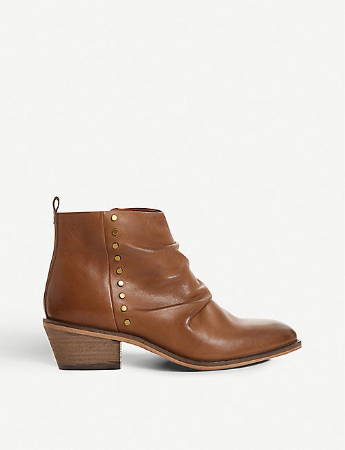 BERTIE Praydon stud-embellished leather boots
