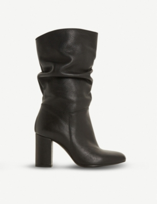 DUNE Rafaellie ruched leather boots