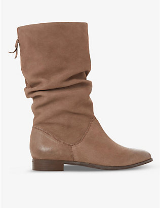 DUNE: Rosalinda suede ankle boots