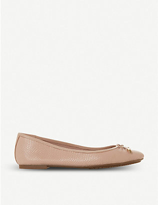 DUNE: Harpar leather ballet flats
