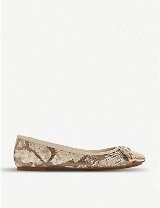 DUNE: Harpar leather ballerina pumps