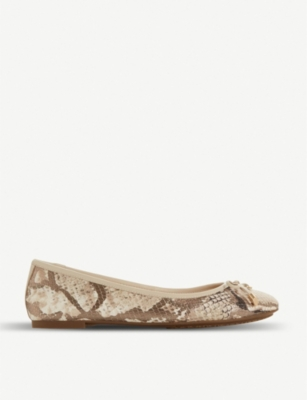 DUNE Harpar leather ballerina pumps