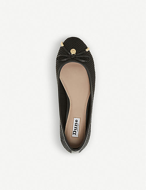 DUNE Harpar leather ballerina pump