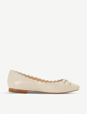 DUNE Hinton leather ballet flats