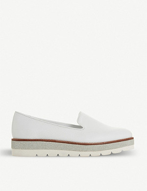 DUNE Gasp flatform slipper cut loafers