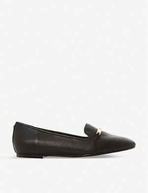 DUNE Graced round-toe leather loafers