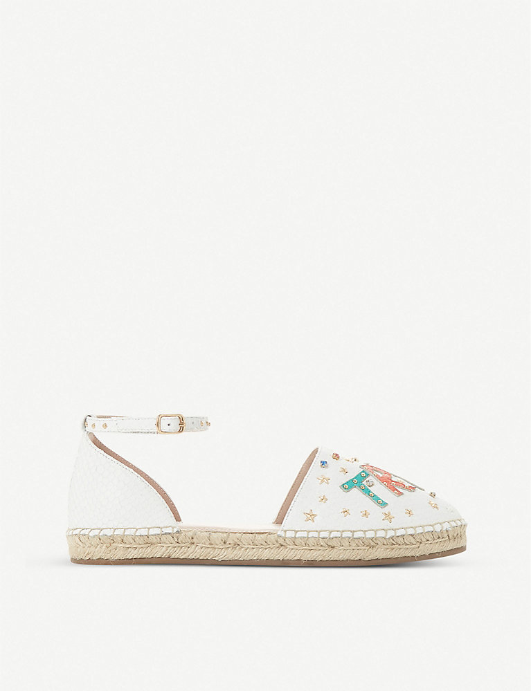 Dune Gorgeous true love leather espadrilles